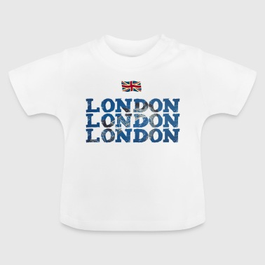 London England flag brexit Great brittain eye - Baby T-Shirt