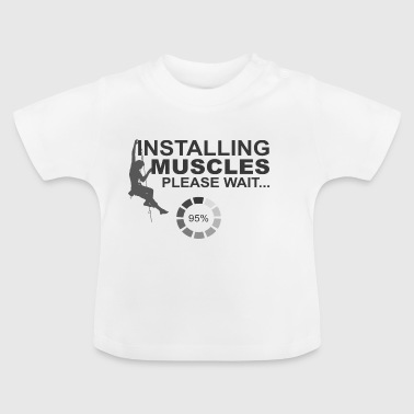 Spieren installeren, Please Wait - Baby T-shirt