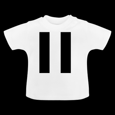 Stripes svart - Baby-T-shirt