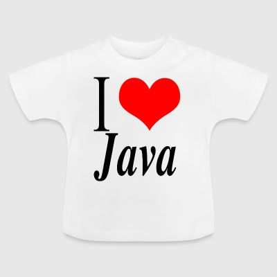 I love Java - Camiseta bebé