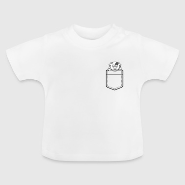 Cow in shirt bag gift cows milking - Baby T-Shirt