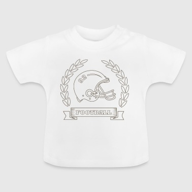 American Football-helm Quarterback Football Rugby - Baby T-shirt
