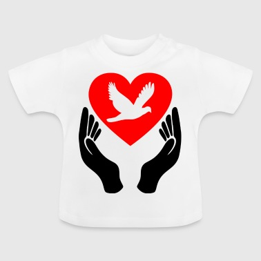 Peace Dove Heart - Baby T-Shirt