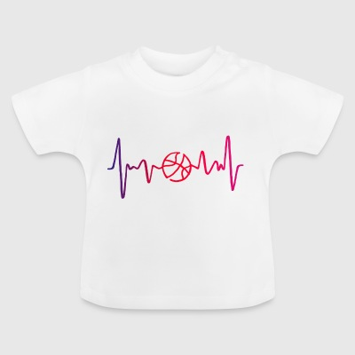 Basketball Heartbeat. Heartbeat. BPM. Pulse. Freq. - Baby T-Shirt