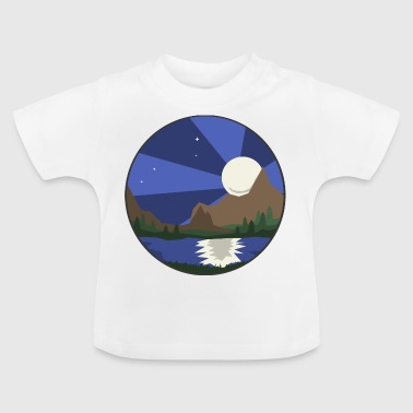 Landscape, lake & moon - Baby T-Shirt