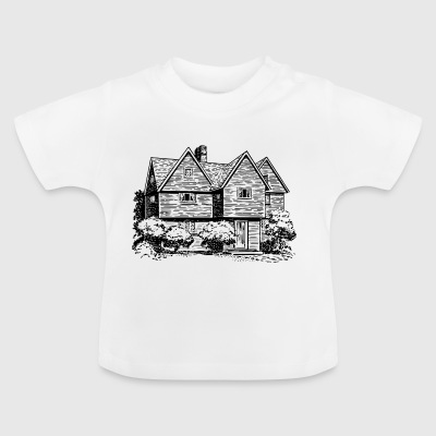 maison Illustration - T-shirt Bébé