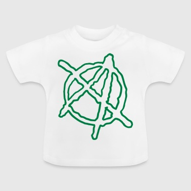 Anarchy Outline Hand Drawn - Baby T-Shirt