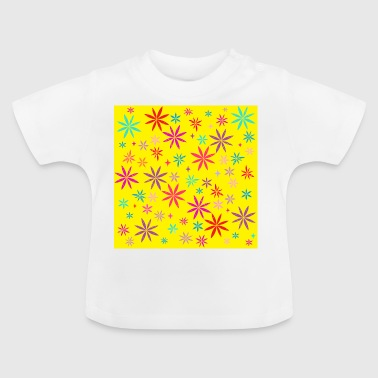 Flower Shower on Yellow - Baby T-Shirt