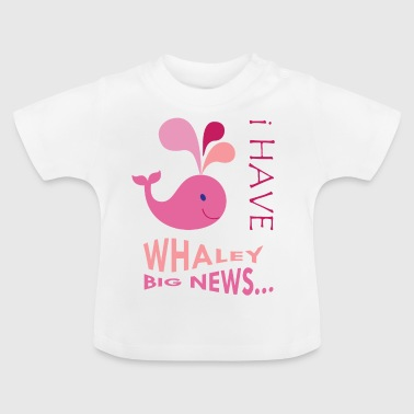Pink Whale. Pregnancy announcement. New baby.SALE - Baby T-Shirt