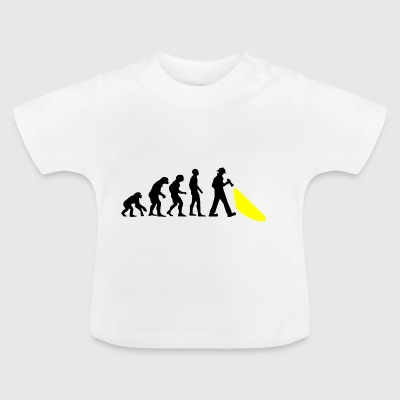 Evolution of mankind. Here's the police. - Baby T-Shirt