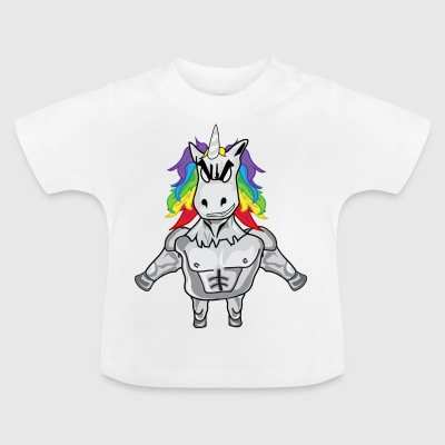 Unicorn with muscles - Baby T-Shirt