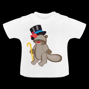 beaver biber rodent rodents wood water36 - Baby T-Shirt