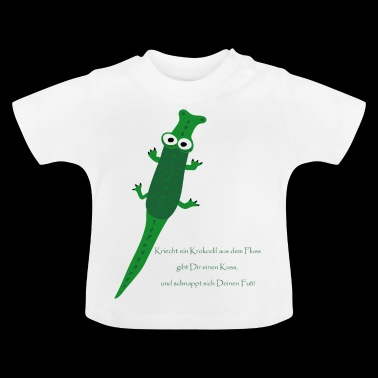 Baby clothes with crocodile and finger play rhyme - Baby T-Shirt