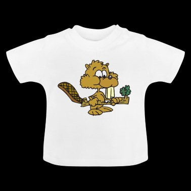 beaver biber rodent rodents wood water25 - Baby T-Shirt