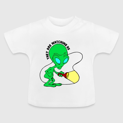 They Are Watching Us Alien Search Party - Baby T-Shirt