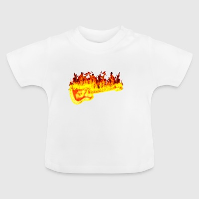 Fire guitar - Baby T-Shirt