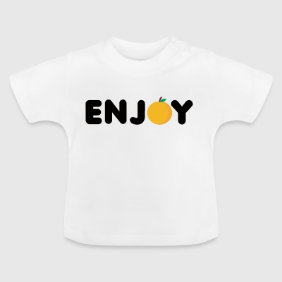 Frucht / Früchte: Enjoy Orange - Baby T-Shirt