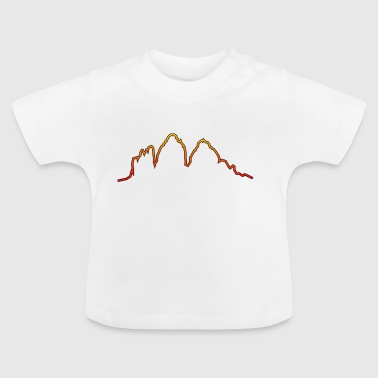 Dolomites Three peaks evening red glow - Baby T-Shirt
