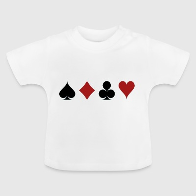 Poker Blackjack Ass Devil Devil Casino Angel Card - Baby T-Shirt