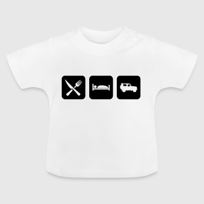 Eat, Sleep & Forsvar - Baby T-shirt