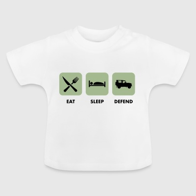 Eat, Sleep & Defend - T-shirt Bébé