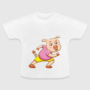 Funny animal design with pig piglet - Baby T-Shirt