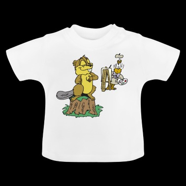 beaver biber rodent rodents wood water31 - Baby T-Shirt