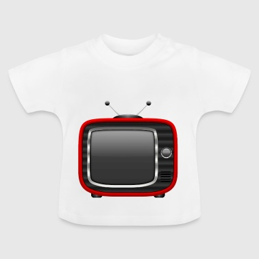 Retro Tv Red 001 AllroundDesigns - Baby T-Shirt