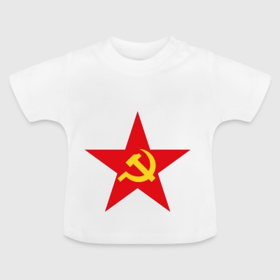 Communist star with hammer and sickle - Baby T-Shirt