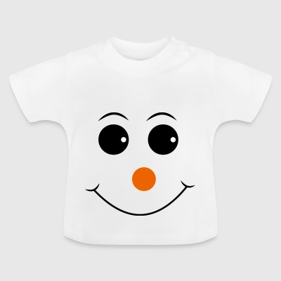 Smiley mit roter Nase - Baby T-Shirt