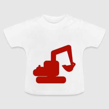Spielzeug Bagger - Baby T-Shirt