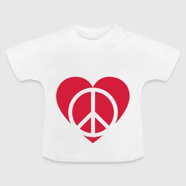 Rood hart vrede - Baby T-shirt