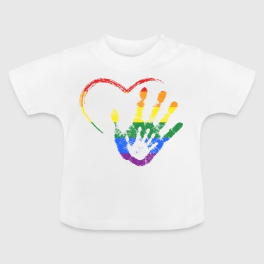 RAINBOW HAND IN HAND - Baby T-Shirt