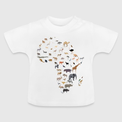Map of African wildlife - Baby T-Shirt