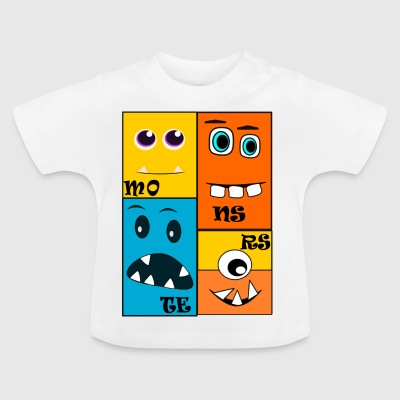 monstruos - Camiseta bebé