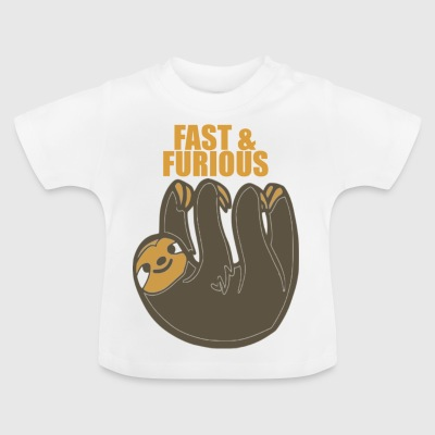 SLOTH FAST AND FURIOUS - Baby T-Shirt