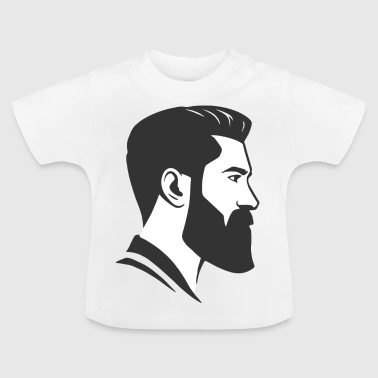 Head Hairstyle Beard Hipster Blogger Undercut Gift - Baby T-Shirt