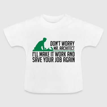 Maken en op te slaan architect timmerman - room - Baby T-shirt