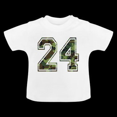 Zahlen Camouflage Paintball Bundeswehr 24 - Baby T-Shirt