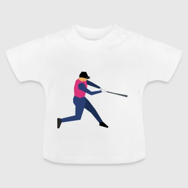 honkbalsporten helm pitcher softball catcher5 - Baby T-shirt
