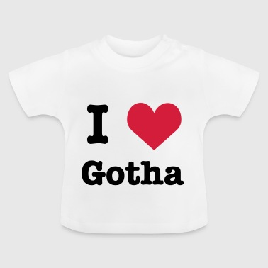 I love (heart) Gotha - Baby T-Shirt