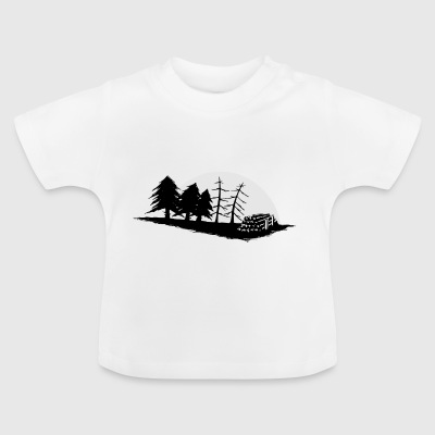 Forestry Forestry Setting Moon Gift - Baby T-Shirt
