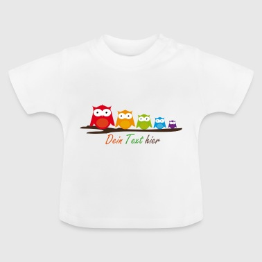 Five colorful owls - Baby T-Shirt