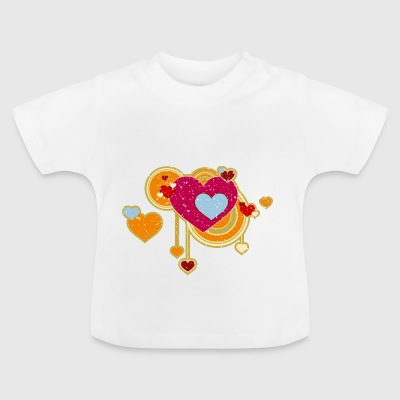 Love Love Grunge Heart Retro Vintage Lucky Hygge - Baby T-Shirt