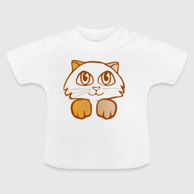katten illustrationen - Baby-T-shirt