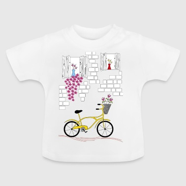 country with bicycle - Baby T-Shirt