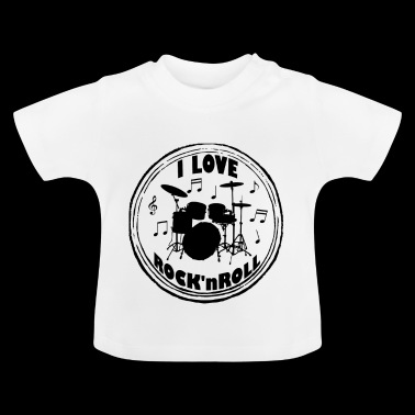 I LOVE ROCK 'N ROLL VINTAGE 50TH GAVE - Baby T-shirt