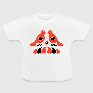 Vogels folk patroon - Baby T-shirt