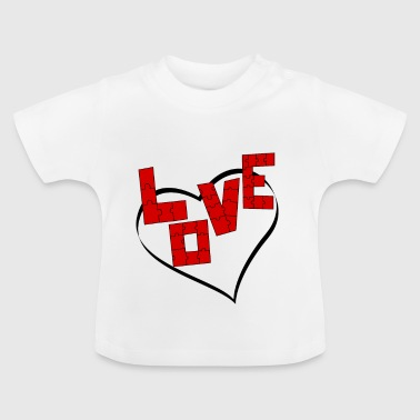 written love puzzle - Baby T-Shirt