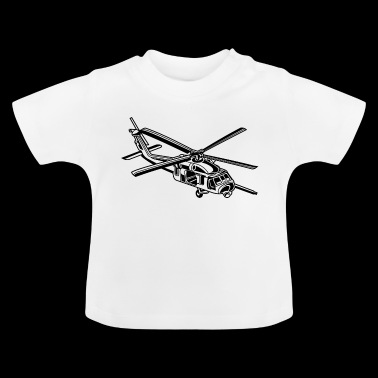 Helicopter / helikopter 01_schwarz - Baby T-shirt
